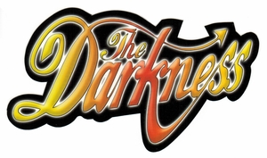 THE DARKNESS RAINBOW BAND LOGO STICKER
