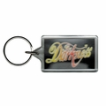 THE DARKNESS RAINBOW LOGO LUCITE RECTANGLE KEYCHAIN