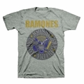 THE RAMONES YELLOW AND BLUE SEAL MEN'S T-SHIRT
