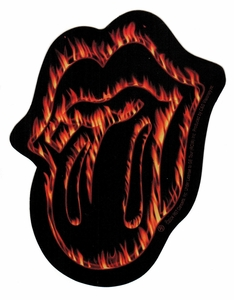 THE ROLLING STONES FLAMING TONGUE STICKER