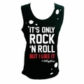 THE ROLLING STONES ITS ONLY ROCK AND ROLL DESTROYED WOMEN'S TANK