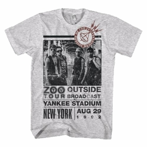 U2 ZOO OUTSIDE TOUR SLIM FIT MEN'S T-SHIRT