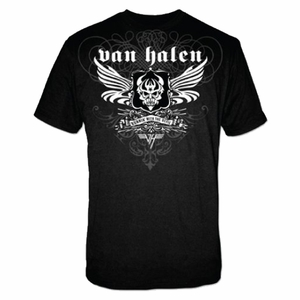VAN HALEN B & W WINGED DEVIL MEN'S T-SHIRT