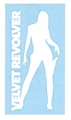 VELVET REVOLVER GIRL RUB-ON STICKER WHITE