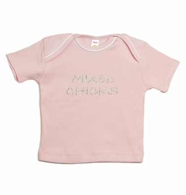 "toddler t-shirt - ""mixed chicks"" ""rock"""