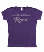 "youth T - ""mixed chicks rock"""