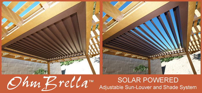 OhmBrella Adjustable Louvers - Click to enlarge