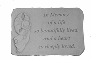A Life So Beautifully Lived - Angel Memorial Stone