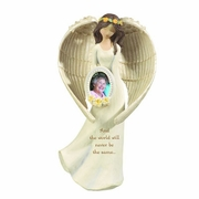 Angel Memorial Statue with Photo Frame