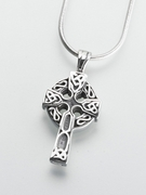Celtic Cross Cremation Urn Pendant