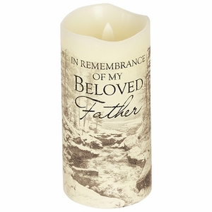 Father Flameless Memorial Candle