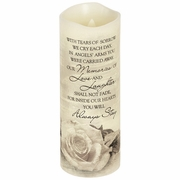 Flameless Memorial Candle - Angel's Arms