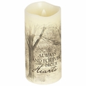 Flameless Memorial Candle - Forever In Our Hearts