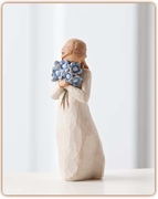 "Forget Me Not Figurine ""Holding Thoughts of You Closely"""
