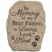 In Memory of My Best Friend-Garden Stone