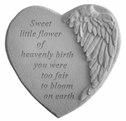 "Infant Loss Memorial Garden Stone ""Sweet little flower..."""