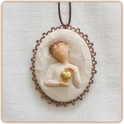 "Keepsake Memorial Ornament ""Kept Forever in the Heart"""