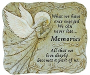 Luminous Angel Memorial Stone - What We Once Enjoyed