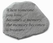 Memorial Garden Stone - When Someone You Love