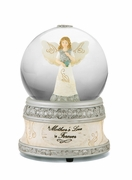 "Memorial Music Water Globe ""A Mother's Love is Forever"""