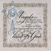 Memorial Plaque w/easel - Angels Are Always Near