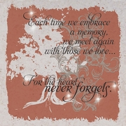 Memorial Plaque w/easel - The Heart Never Forgets