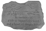 Memorial Stone - A Life So Beautifully Lived