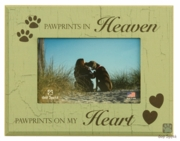 Pawprints in Heaven Pet Remembrance Frame