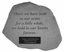 Personalized Garden Memorial Stone - Those We Have Held