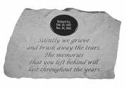 Personalized Memorial Stone - Silently We Grieve