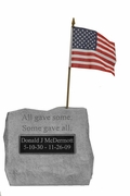 Personalized Military Service Memorial Stone