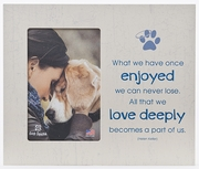 Pet Memorial Keepsake Frame - Engraving Option