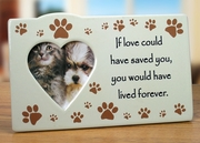 Pet Remembrance Memorial Photo Plaque