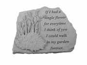 Remembrance Stone - Single Flower