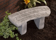 "Small Memorial Garden Bench  ""I thought of you with love today..."""