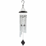 "Solar Remembrance Wind Chime ""Do Not Stand at My Grave and Weep..."""