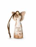 "Sympathy Angel Ornament ""Forever In Our Hearts"""