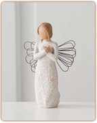 "Willow Tree Remembrance Angel ""Memories...hold each one safely..."""
