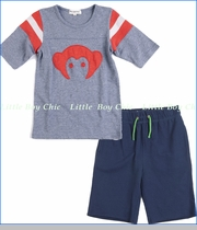 Appaman, Heather Grey Hockey Jersey with Camp Shorts