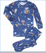 Books To Bed, Mousetronaut Pajama Set in Blue