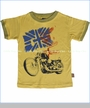 Charlie Rocket, Motorcycle Ringer Tee in Yellow (c)