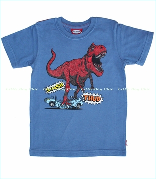 City Threads, Comic Dino Tee in Smurf (c)
