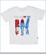 City Threads, USA Popsicle Tee in White