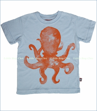 City Threads, Watercolor Octopus Tee in Crystal Blue (c)