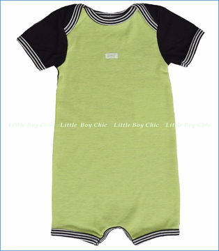 Coccoli, Lime/Navy Salt Water Taffy Romper (c)