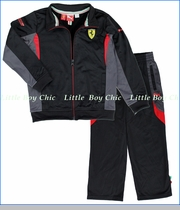 Ferrari by Puma, Track Suit in Black