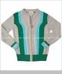 Fore!!, Glee Zip Front Cardigan in Cloud (c)