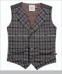 Fore!!, Grey Heather Plaid Button Vest