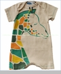 Gnu by Lemon Loves Lime, G For Giraffe Romper in Bleached Sand (c)