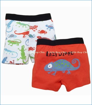 Hatley, Crazy Lizards Boxer Briefs 2-Pack